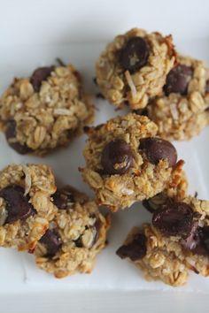 vegan chocolate chip, banana oatmeal balls!