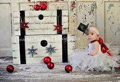 FROSTY THE SNOWBABY Crocheted Snowman Tutu Dress with Glittered Mini Top Hat Headband -