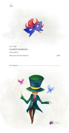Flower Exhibition Logo  - Hand Painted