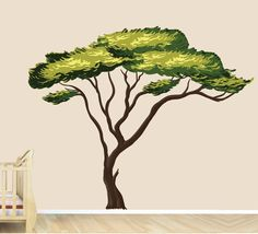 Amazon.com: Safari Tree Decal, African Tree Decal, Jungle Stickers: Home & Kitchen