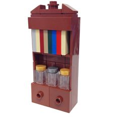 "MinifigurePacks: Lego® ""Furniture"" Minifigure Accessory Bundle (1) Bookcase (1) Sleeve of Books (3) Apothecary Jars"
