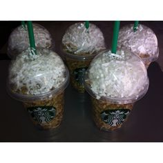 Starbucks gift cards in cups with colored paper for my volunteers in my classroom!! :)