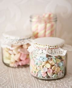 jars, candy, party ideas, wedding favours, baby shower gifts