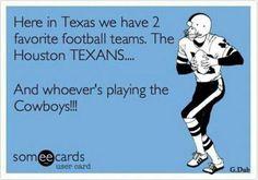 Go Texans!!  I love football season!