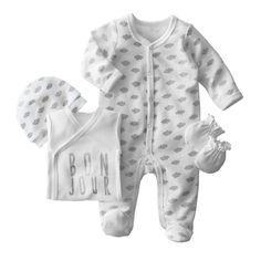 Kit recién nacido 4 piezas 0 - 12 meses R baby