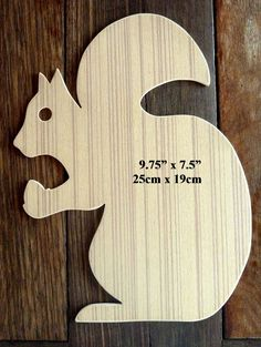 'Squirrel' A Beautiful Hand Crafted Large Sized MDF Paintable Plaque/Craft Blank