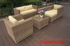 Out Of Stock - Garden Rattan Furniture Rattan Garden Furniture Sale, Conservatory Furniture, Outside Furniture, Outdoor Furniture Sets, Outdoor Tables And Chairs, Garden Table And Chairs, Garden Sofa, Three Seater Sofa, Garden Yard Ideas