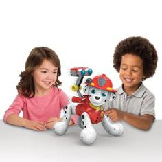 zoomer Paw Patrol Marshall Interactive Pup with Missions Sounds and Phrases by Spin Master ** Information could be found by clicking the photo. (This is an affiliate link). Paw Patrol Marshall Toy, Paw Patrol Action Figures, Toddler Toys, Kids Toys, Paw Patrol Toys, Top Toys, Christmas Toys, Christmas 2016, Little People