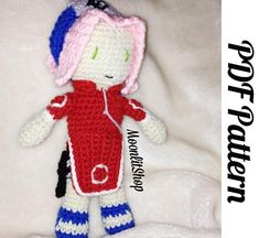 Naruto Inspired Crochet Sakura Haruno Amigurumi Doll PDF