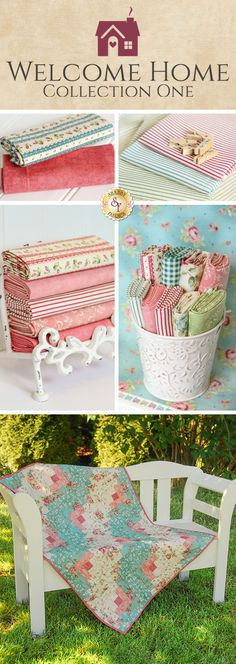 Welcome Home Collection One is a beautiful floral collection by Jennifer Bosworth for Shabby Fabrics manufactured by Maywood Studio!