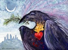 rosemary raven with sacred heart