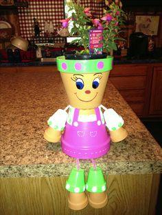 Clay pot girl