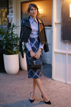 pencil skirt chic