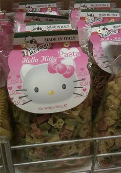 Hello Kitty pasta-wonder where we could find this. Could make hello kitty mac n cheese or something.