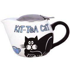 Cat teapot. Looks like Simon's Cat!