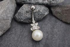 Gabriela Pearl Belly Button Jewelry