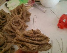 DIY, Çuval Bezinden Top Çiçek Yapılışı