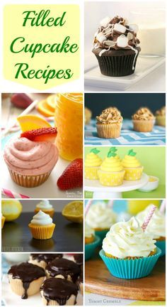 Filled Cupcakes - delicious collection of filled cupcake recipes