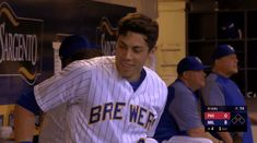 His eyebrows have a story to tell. Bryant Baseball, Baseball Guys, Sports Baseball, Softball, Baseball Cards, Mlb Players, Baseball Players, Bae, Christian Yelich