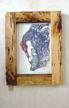 Frame with woman picture by RenovatioImperii on Etsy