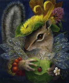 Greeting cards from original paintings by Arizona artist Carolyn Schmitz. Whimsical portraits of wildlife and native plants from the mountains and deserts. Art And Illustration, Woodland Creatures, Chipmunks, Whimsical Art, Animal Drawings, Pet Portraits, Illustrators, Cute Pictures, Fantasy Art