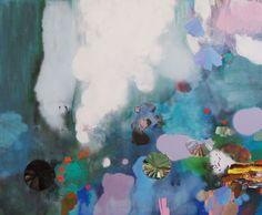 "Saatchi Art Artist: Magdalena Sadziak; Oil 2013 Painting ""o.T. / Violet"""