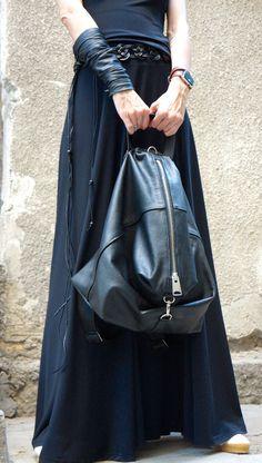 VENDITA nuovo vera pelle nero zaino   borsa di alta qualità Zaino Nero 2676c1754dc