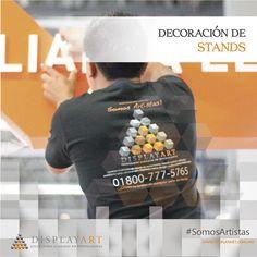 Montar #UnStandDisplayArt significa cuidar cada detalle para reflejar ideas únicas. #SomosArtistas