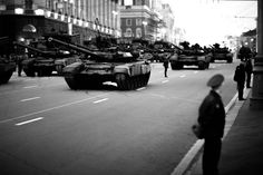 T-90A tanks during parade in Moscow, May 2013.