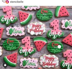 Roquefort mini cakes, smoked walnuts and bacon - Clean Eating Snacks First Birthday Party Themes, First Birthday Decorations, Baby First Birthday, Girl Birthday, Birthday Ideas, Birthday Stuff, Watermelon Cookies, Watermelon Rind, Watermelon Birthday Parties