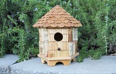 Etsy の Medium Gazebo birdhouse wine cork art by CarefullyCorked