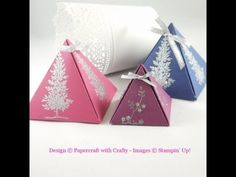 Papercraft With Crafty: Pyramid Gift Boxes
