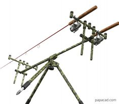 Fishing rods tripod design - Inventor models with STEP and STL model Walleye Fishing, Carp Fishing, Fishing Tips, Fishing Tackle, Fishing Rod Stand, Diy Tripod, 3d Cad Models, Fishing Quotes, 3 D