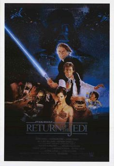 A great Star Wars Episode VI: The Return of the Jedi poster! Luke Skywalker vs Darth Vader, the Empire, and the Dark Side of the Force! Ships fast. 24x36 inches. Be a good Jedi and check out the rest