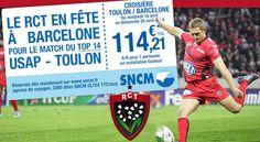 Rugby : Croisière Toulon Barcelone. Du 18 au 20 avril 2014 à toulon.