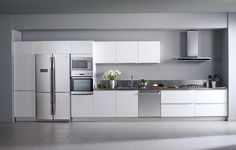 Inspirace od Beka. I volně stojící spotřebiče můžou být vestavěné. Třeba s moderním designem kuchyně to vypadá výborně.