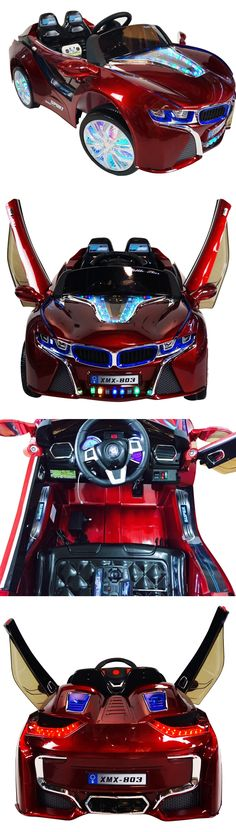 Toy Vehicles 145946: 2017 Bmw I8 12-Volt Battery Powered Electric Ride On Kids Toy Car Remote -Red -> BUY IT NOW ONLY: $439 on eBay!
