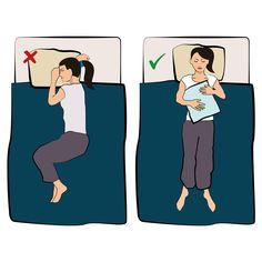 Wie du mit Schmerzen die richtige Schlafposition findest