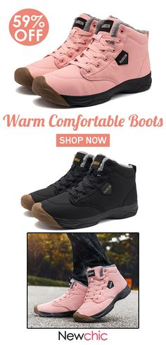 huge discount f539f c85fa Women Large Size Warm Comfortable Lace Up Ankle Boots. women  womenfashion   womenwinterboot