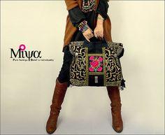 Original étnico Hmong de Miya bordada bolso bolso bolso - transeúnte