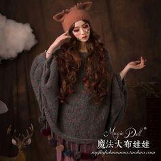 Магия большие куклы родитель ребенок небольшие рога свежий сладкий елизаветинцы мех кролика вязаная шапка купить на AliExpress