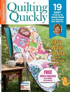 Fons & Porter's Quilting Quickly Fall 2013 Magazine - only $9.49! http://lisasstitchingpost.com/product_info.php?products_id=1281