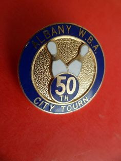 No Pins Broche EGF sport BOWLING USA City TOURN 50 th ALBANY W.B.A. Enamel badge  | eBay