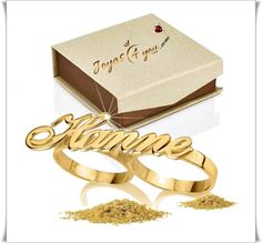 Puedes ser diferente... Place Cards, Place Card Holders, Monogram, Personalized Rings, Silver, Crystals