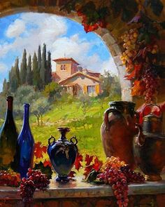 A-delina - Дневник A-delina Pictures To Paint, Art Pictures, Landscape Art, Landscape Paintings, Cottage Art, Fruit Painting, Still Life Art, Beautiful Paintings, Painting Inspiration