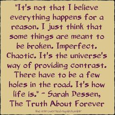 sarah dessen, the truth about forever #book #quotes