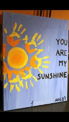 Handprint sunshine poster