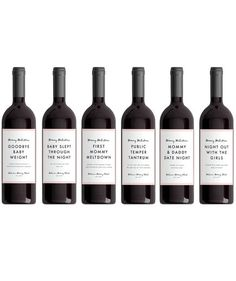 New Mom Wine Labels | Give mom (and her newest addition) a little TLC with these clever picks.