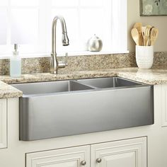 "33"" Hazelton Stainless Steel Farmhouse Sink - Farmhouse Sinks - Kitchen Sinks - Kitchen"