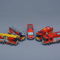 The LEGO City fire trucks